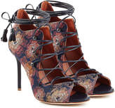Malone Souliers Lace-Up Sandals with Leather