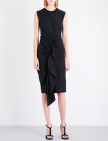 Sportmax Ruffle front cotton-blend dress