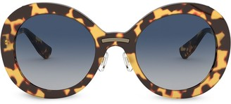 Miu Miu Round Frame Tortoiseshell Sunglasses