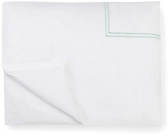 Sferra Grande Hotel Duvet Cover - White/Mist Full/queen