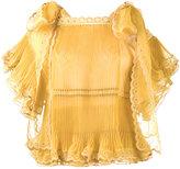 Chloé sheer pleated scalloped blouse - women - Silk/Polyester - 36