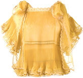 Chloé sheer pleated scalloped blouse - women - Silk/Polyester - 38