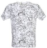 Kenzo Woman All-over Print White Cotton T-shirt