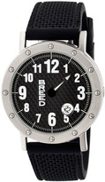Breed Silver & Black Richard One-Hand Watch