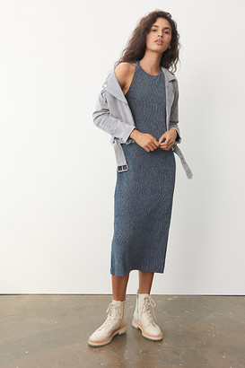 Maeve Adrienne Twist-Back Velvet Midi Dress By in Black Size XS