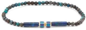 Luis Morais Hexagon Charm Beaded Bracelet - Mens - Blue Multi