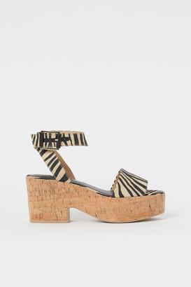 H&M Platform Sandals - Beige