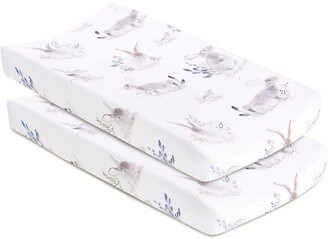 Oilo Cottontail 2-Pack Jersey Changing Pad Covers