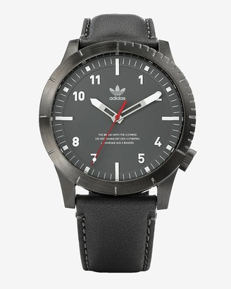 Express Adidas Men'S Cypher Lx1 Gray Leather Watch