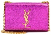 Saint Laurent Classic Small Kate Monogram metallic leather shoulder bag