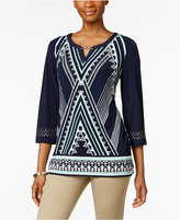 JM Collection Printed Hardware Tunic, Only at Macy's