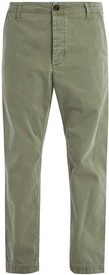 Gucci Straight-leg cotton chino trousers