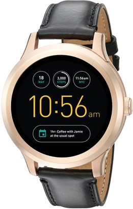 Fossil Q Founder Gen 1 Touchscreen Black Leather Smartwatch