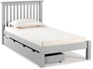 Alaterre Barcelona Twin Bed with Storage Drawers, Dove Gray