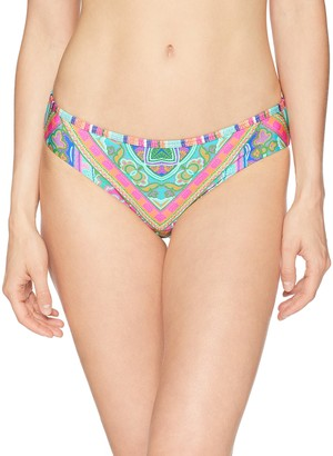 Laundry by Shelli Segal Women's Scarf Medallion Reversible Bikini Bottom Swimsuit