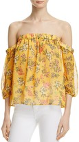 Ella Moss Floral Print Off-the-Shoulder Top