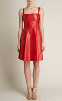 Red Leather Tank Sundress