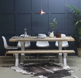 Rust Collections King's Cross Reclaimed Wood Dining Table With X Frame