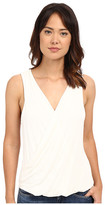 Heather Twist Front Tank Top