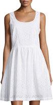 MICHAEL Michael Kors Eyelet Lace Scoop-Neck Dress, White