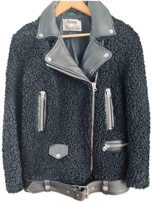 Acne Studios Black Shearling Jacket for Women