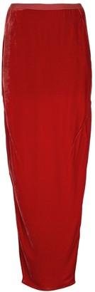 Rick Owens side slits long skirt