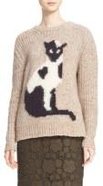 N°21 Cat Intarsia Knit Sweater