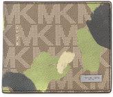 Michael Kors camouflage logo wallet - men - Leather - One Size