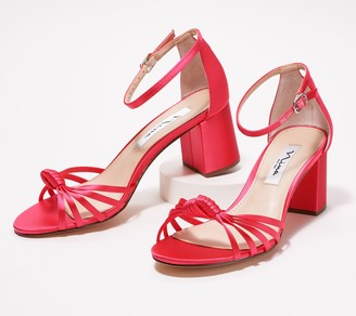 Nina Satin Block Heel Sandal - Nidiah