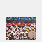 Coach Flat Card Case In Mixed Yankee Floral Print Canvas
