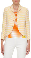 Akris Punto Striped Two-Button Blazer, Cream