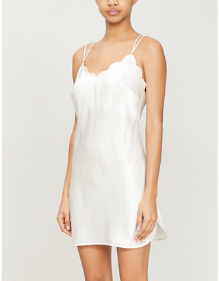 Marjolaine Jadis silk-satin night dress