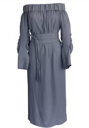 Onelady Off Shoulder Midi Dress Light Blue Vivi