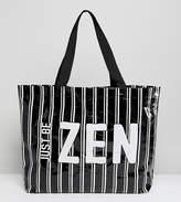 Monki Stripe Zen Beach Bag