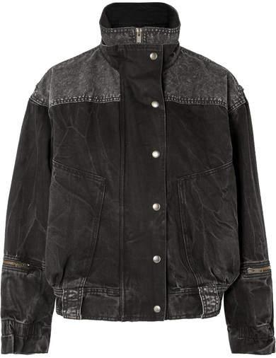 Givenchy Oversized Crinkled-denim Jacket - Black