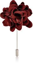 Lanvin Men's Rose Tiepin-BURGUNDY