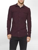 Calvin Klein Slim Fit Brushed Heathered Twill Shirt