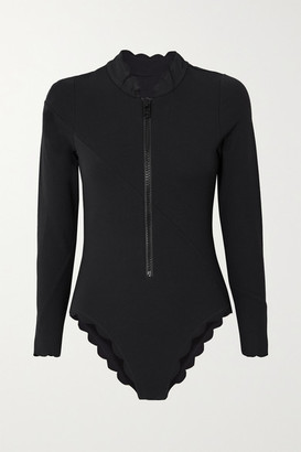 Marysia Swim North Sea Scalloped Swimsuit - Black