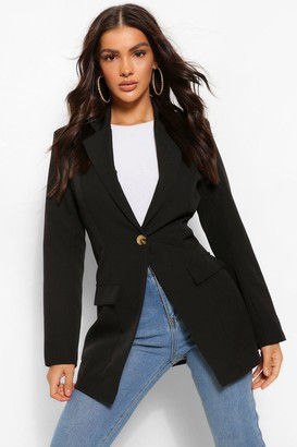 boohoo Single Breasted Shoulder Pad Blazer