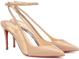 Christian Louboutin Optichoc 85 leather slingback pumps