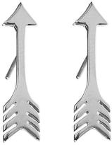 Jennifer Meyer Arrow Stud Earrings - White Gold