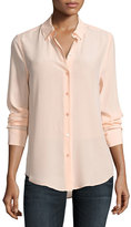 Equipment Essential Long-Sleeve Silk Shirt, Peach
