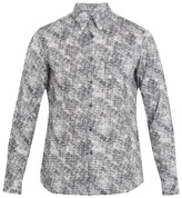 Prada Abstract-print Single-cuff Cotton Shirt