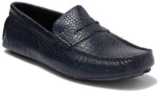 Donald J Pliner Veeto Croc Embossed Leather Driver