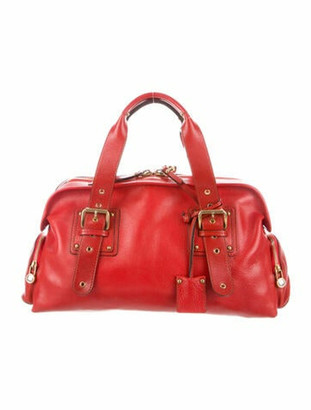 Marc Jacobs Leather Handle Bag Red