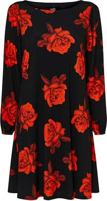 Wallis Black Floral Print Jersey Dress