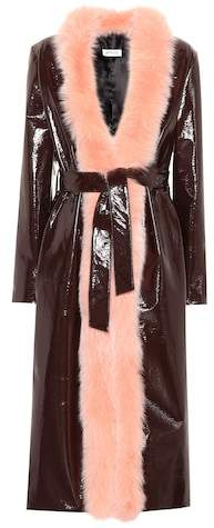 ATTICO Exclusive to mytheresa.com – Vivian fur-trimmed coat