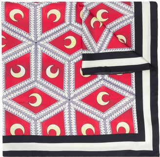 Casablanca Moonlight Tiles silk scarf