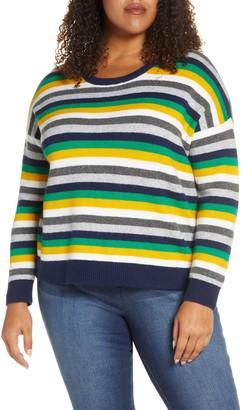 Court & Rowe Multistripe Crewneck Sweater