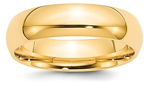 Bloomingdale's Men's 4mm Half Round Band Ring in 14K Yellow Gold - 100% Exclusive